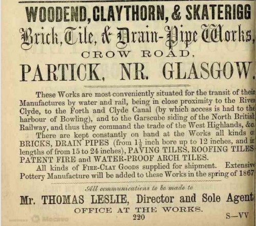 woodend claythorn skaterigg crow road partick