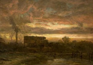 Painting, Glenboig Clay Mill by William Glover
