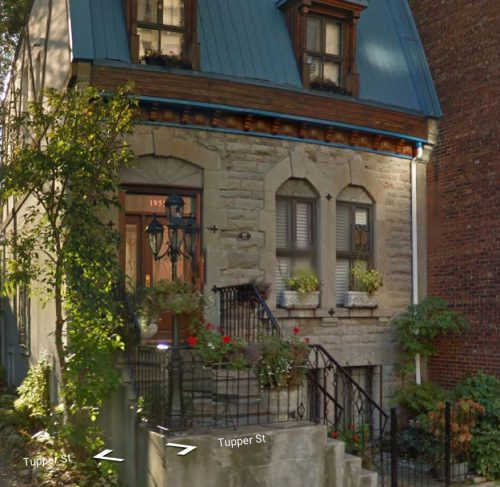 1958 Tupper Street, in what's known as Shaughnessy Village, in downtown Montreal. There's a plaque on the house that says it was built in 1874.