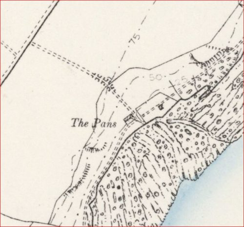 1895 map Kirkmay brick works and the pans crail