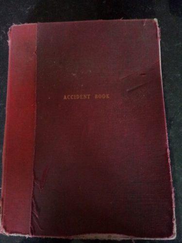 manuel works accident book 1978 - 1991