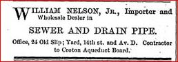 william nelson jr new york croton aqueduct advert