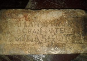 Allan & Mann Govan Patent Glasgow brick found in Sri Lanka