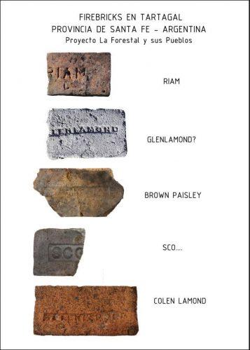 scottish bricks found in Tartagal Santa Fe Argentina..