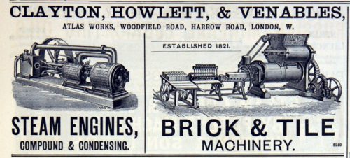 clayton howlett and Venables brick making machine