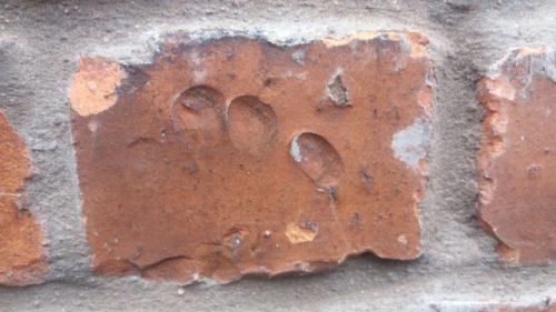 Village hall in Ayton made from Linthill brick fingerprints