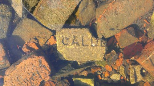 calder brick found in Woodstock, New Brunswick, Canada
