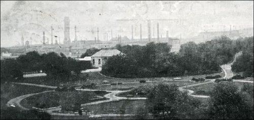 1910-postcard-blochairn-steel-works